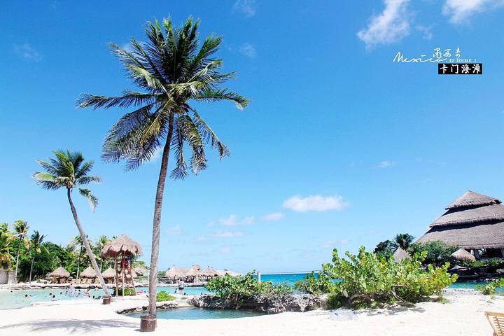 """""""而在我置身于Xcaret公园内看到这片加勒比海-卡门海滩海域时,除了惊叹还是惊叹_卡门海滩""""的评论图片"""
