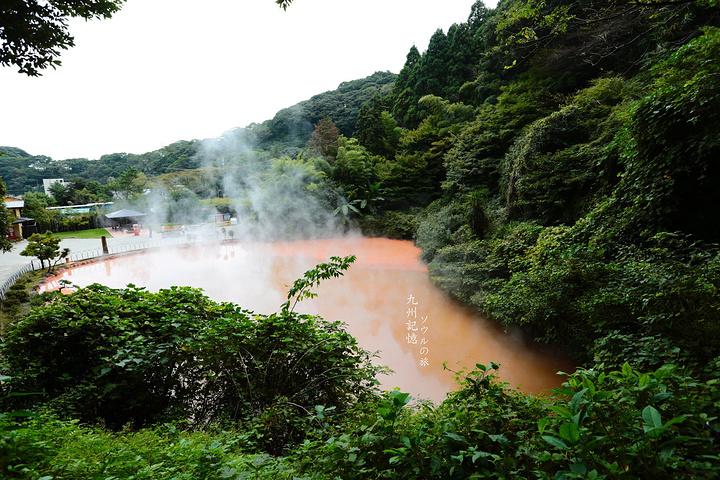 """""""最先到的是血之池地狱,红红的池水温度极高..._血池地狱 """"的评论图片"""