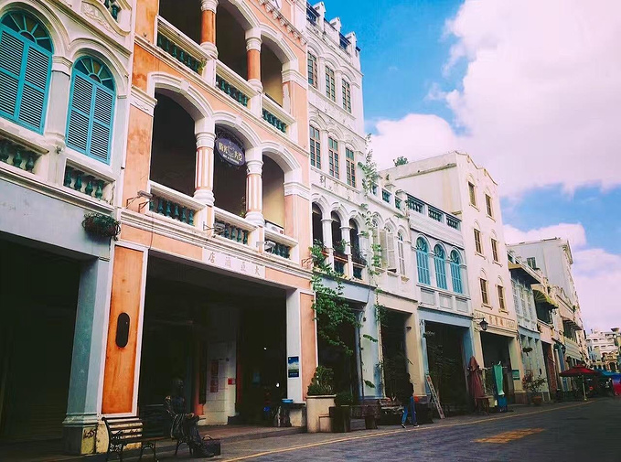 骑楼老街图片