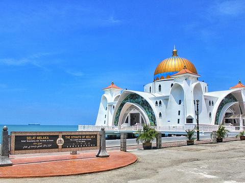 马六甲海峡清真寺旅游景点图片