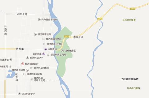 额济纳旗弱水·金沙湾胡杨林风景区旅游景点攻略图