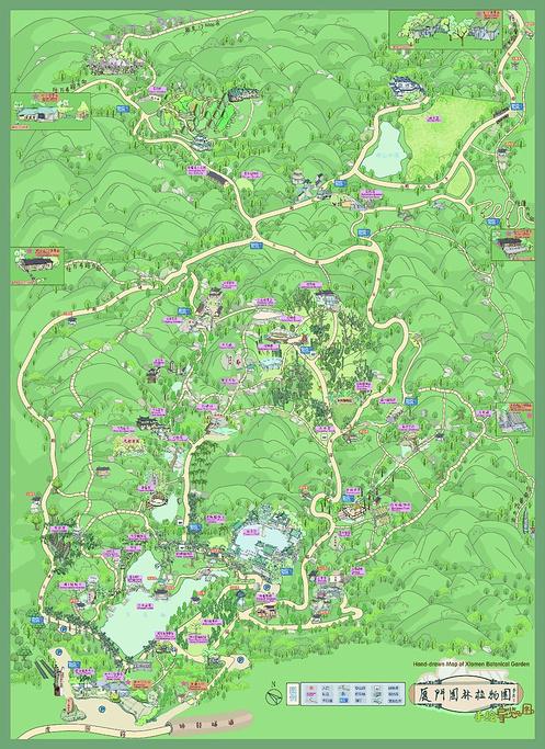 厦门园林植物园旅游导图