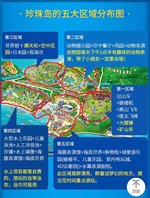 芽庄珍珠岛游乐园旅游导图