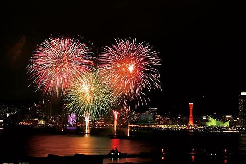 神户港海上花火大会旅游景点攻略图