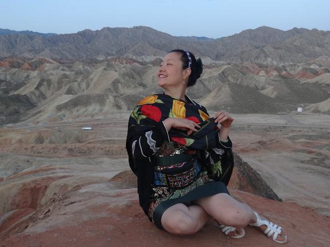 张掖七彩丹霞-魏晋墓砖画-嘉峪关关城(落日)图片