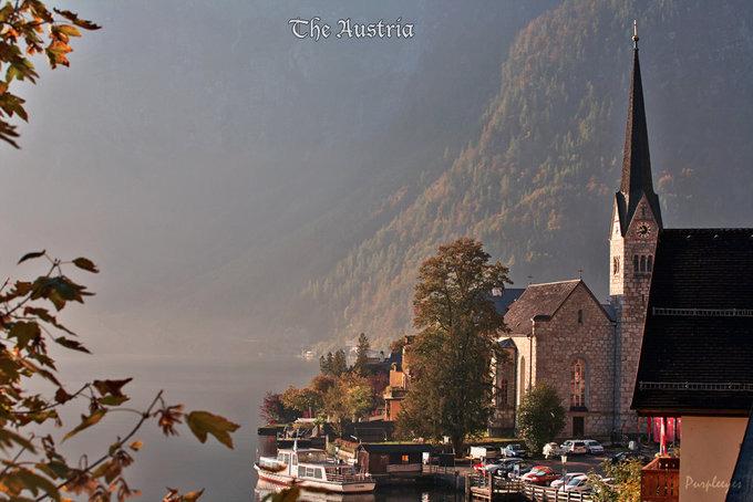 小镇美景拍摄图片