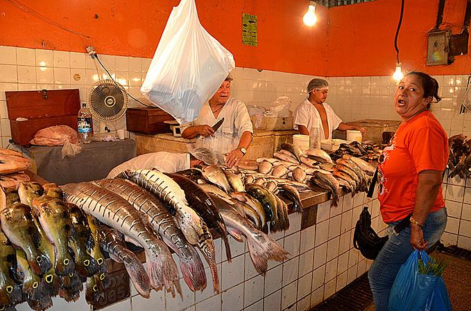 玛瑙斯鱼市图片