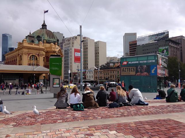 """""""这里是墨尔本非常繁华的广场_联邦广场""""的评论图片"""
