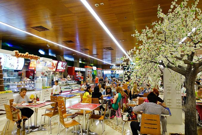 商场吃美食图片