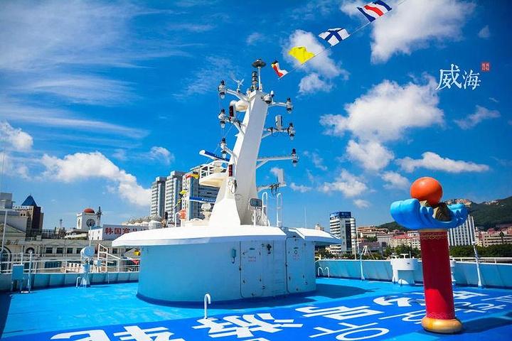 """""""...吃、住、行、游、购、娱""""于一体,航线往返威海湾、是目前国内最大最豪华的沿海型观光游轮,总长95_""""侨乡号""""游轮""""的评论图片"""