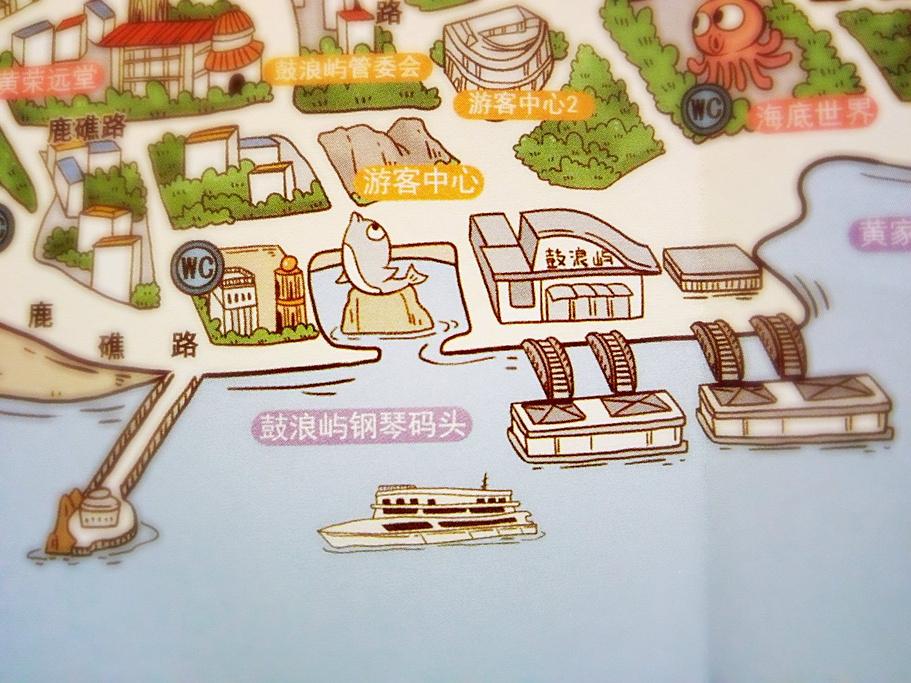 钢琴码头旅游导图