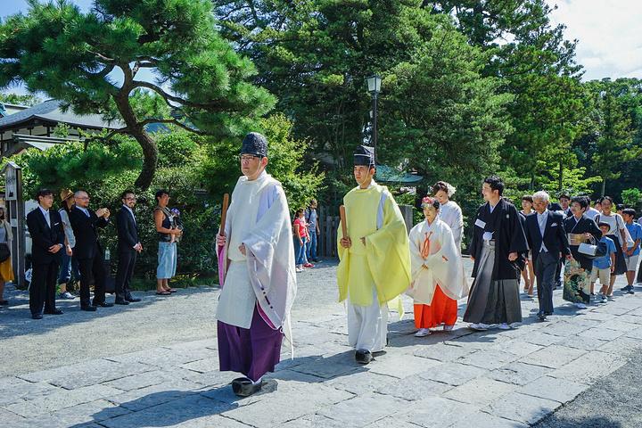 """""""来这里的本地人和游客都很多_鹤冈八幡宫""""的评论图片"""