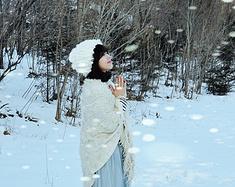 在北国的冰天雪地抓住冬天的尾巴