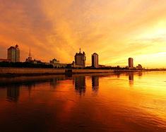美丽的边境城市黑河市