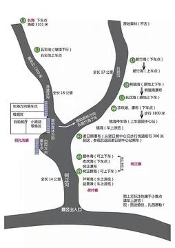 九寨沟旅游景点攻略图