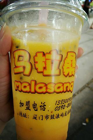 """""""鲜榨果汁,三种水果混合的特别好喝。_鼓浪屿龙头路""""的评论图片"""