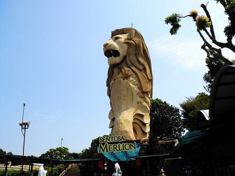 圣淘沙鱼尾狮塔旅游景点图片