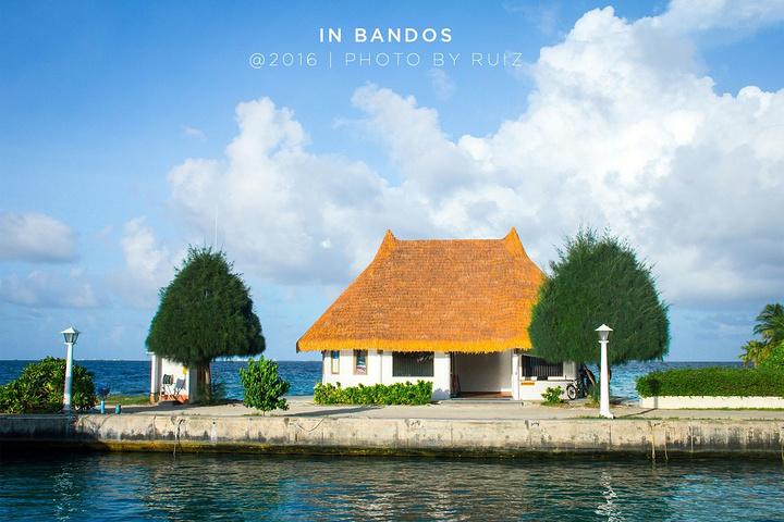 """""""...都有,热带水果很好吃,有很多中国人,但只有吃饭的时候会有很多人,平时在岛上人很少,沙滩也很少人_班度士岛""""的评论图片"""