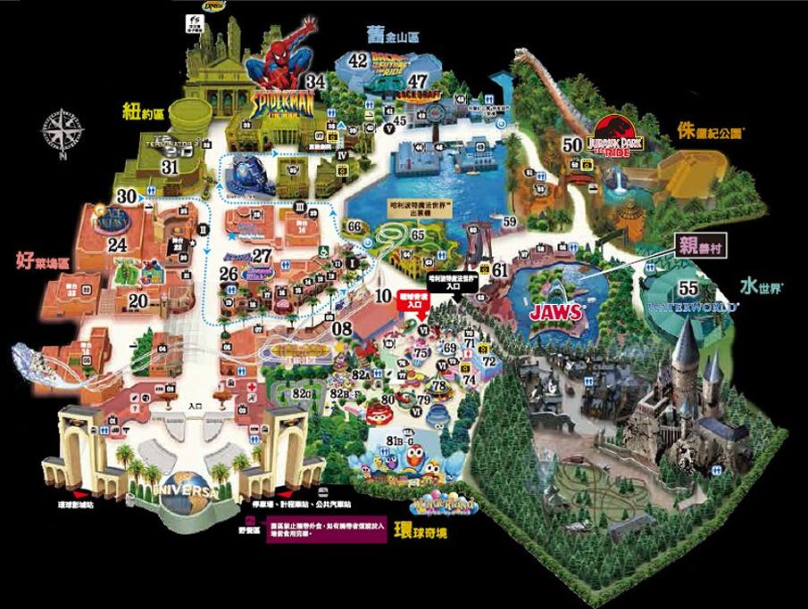 日本环球影城旅游导图