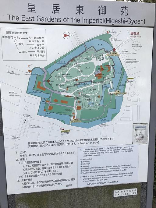 皇居旅游导图
