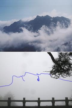 百岁宫观光缆车旅游景点攻略图