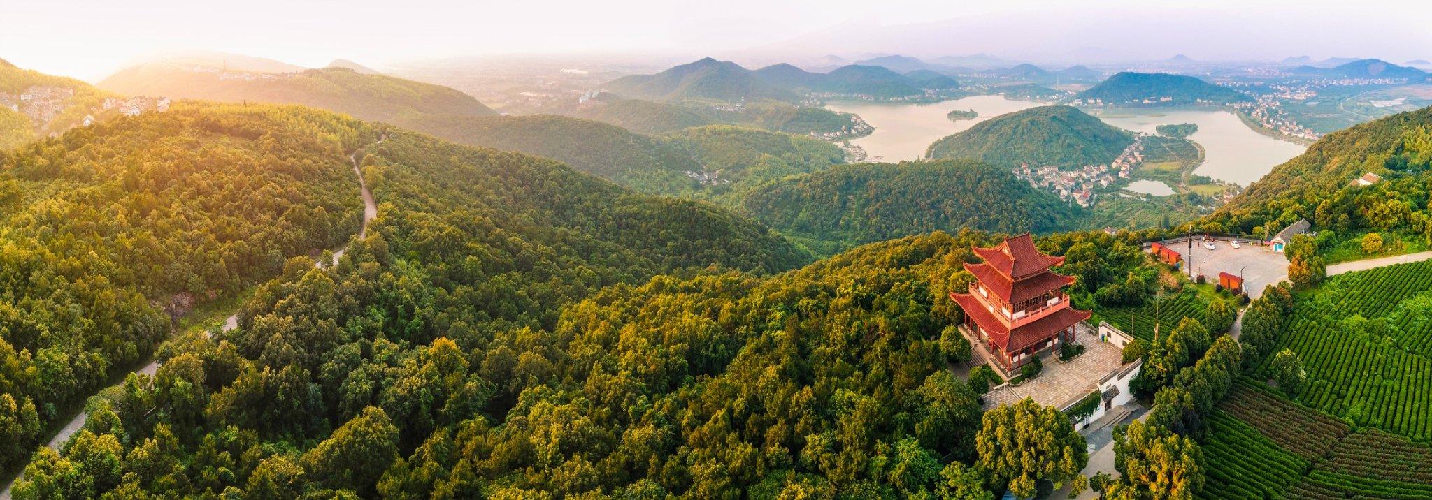 浙夏度假:乌镇南,嘉兴南北湖--开着车爬山、望海、游湖