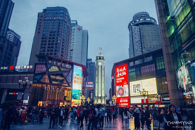 解放碑步行街图片
