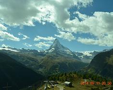 坐着火车游瑞士