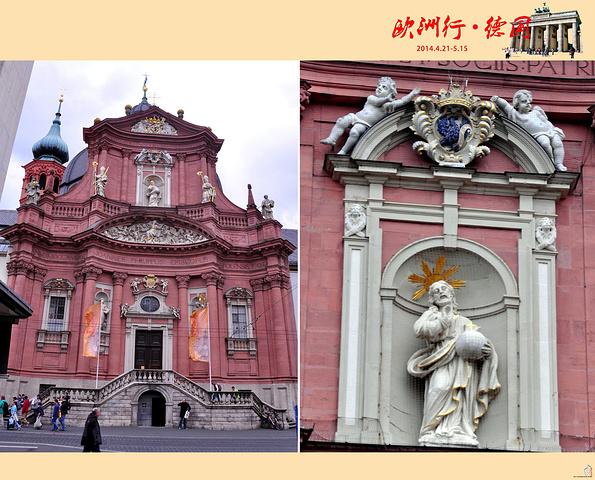 """""""...多时间里建造起的罗马式建筑,不过如今拥有一个非常巴洛克的外立面和穹顶,建于1711–1716年_新明斯特教堂""""的评论图片"""