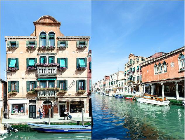 """""""因为彩色小岛布拉诺非常的小,也可以坐船直接到彩色小岛,回来的时候再玩玻璃岛,这样可以节省白天游..._穆拉诺岛""""的评论图片"""