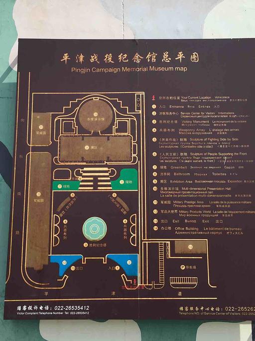 平津战役纪念馆旅游导图