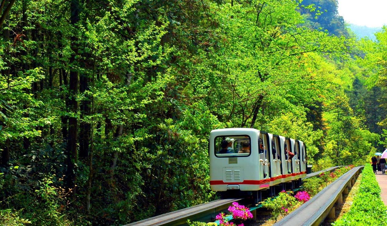 乘坐小火车穿越十里画廊一日游
