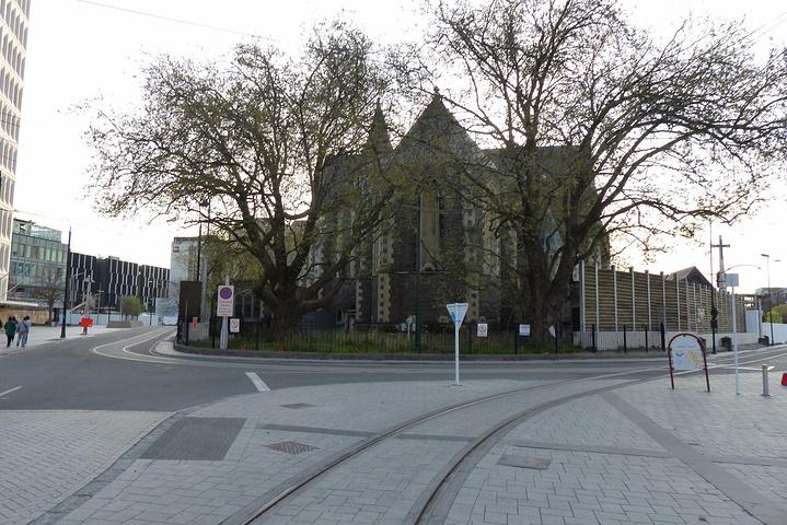 """""""沿着有轨电车的方向走,就到了座堂广场,即..._基督城大教堂""""的评论图片"""