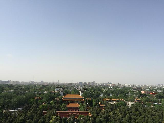 """""""北京的好多建筑、景点都是四方四正的,就连景山公园也是非常方正。观光1线到故宫站,离地铁比较远一些_景山公园""""的评论图片"""