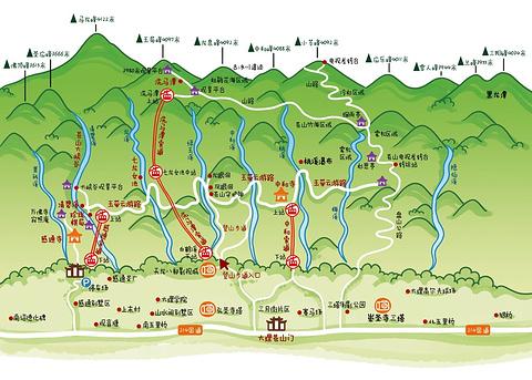 苍山旅游景点攻略图