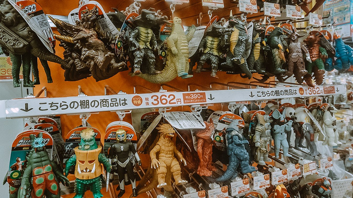 """""""这条竹武隆之与海洋堂联名的龙,全身关节超可动,想着在大阪再入手,可惜到了大阪也没再看见,后悔极了_BIC CAMERA(池袋本店)""""的评论图片"""