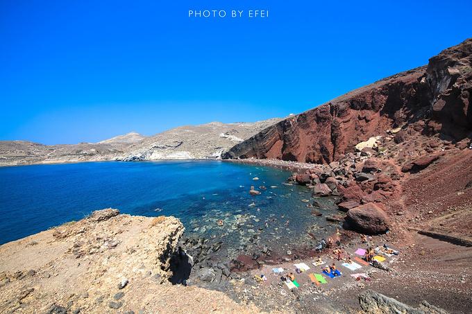 红沙滩图片