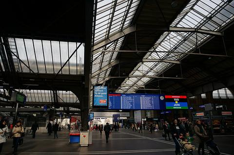 苏黎世主火车站旅游景点攻略图
