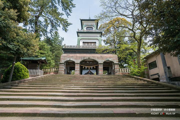 """""""在去兼六园的路上路过尾山神社,前天刚在浅..._尾山神社""""的评论图片"""