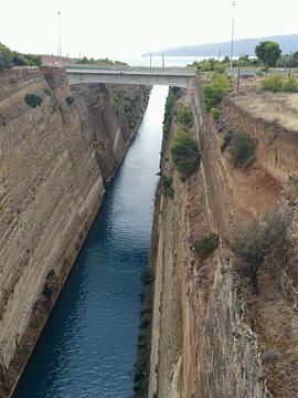 科林斯运河旅游景点攻略图