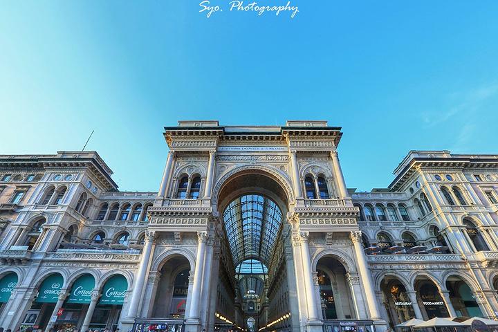 """""""现在是米兰的购物中心,以意大利国王Vittorio Emanuele II命名,以当时流行手法..._埃马努埃莱二世长廊""""的评论图片"""