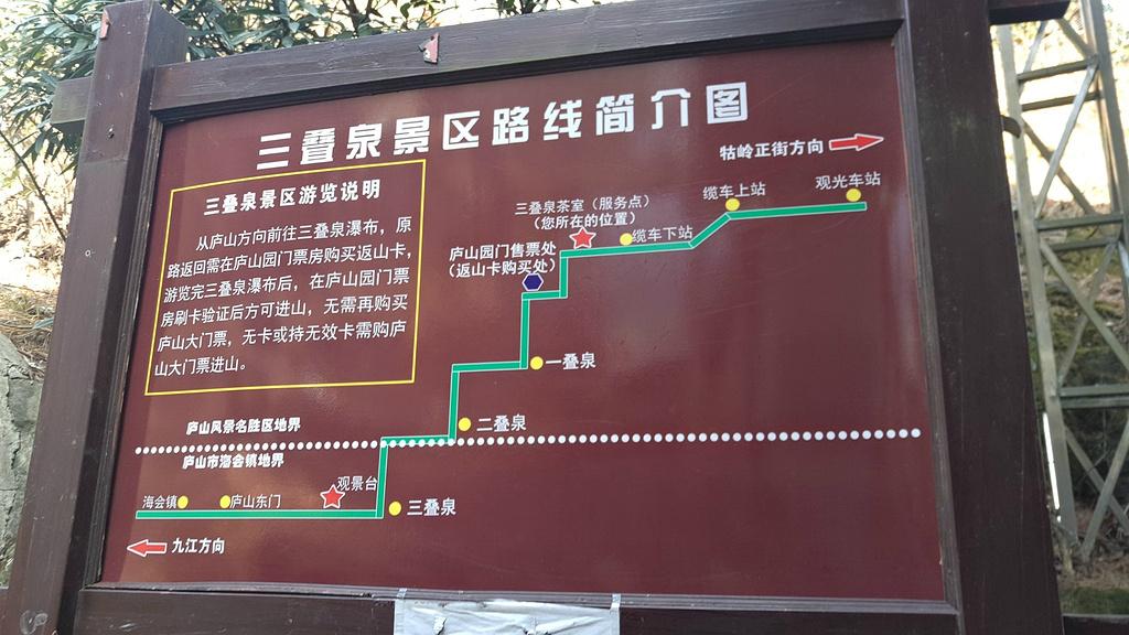 三叠泉旅游导图