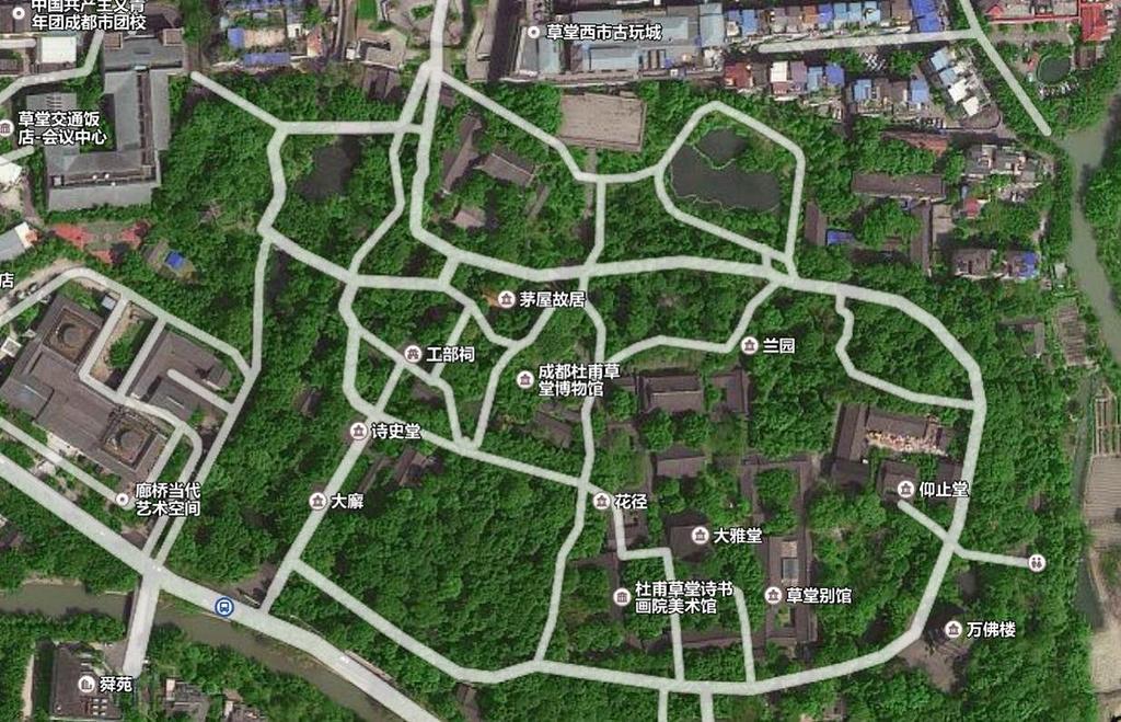 杜甫草堂旅游导图
