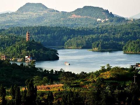 岳池翠湖旅游景点图片