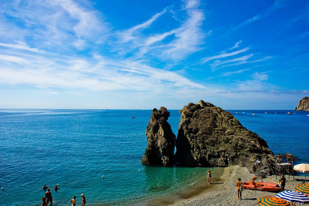 阳光、沙滩、海浪浪——意大利利古里亚海岸