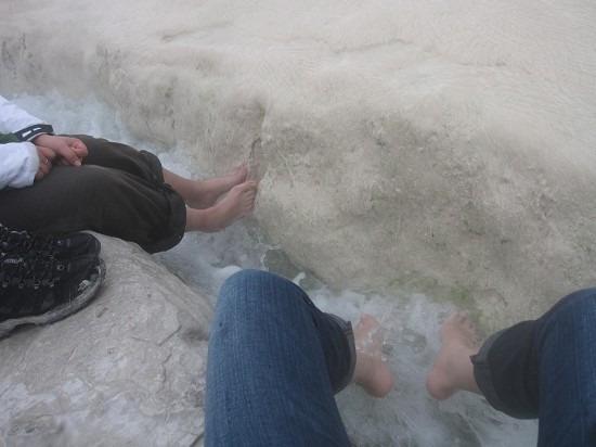 棉花堡温泉池图片