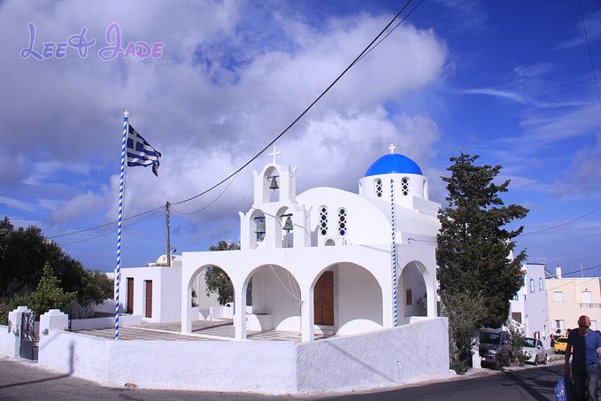 蓝顶教堂图片
