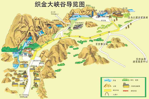 织金大峡谷旅游景点攻略图