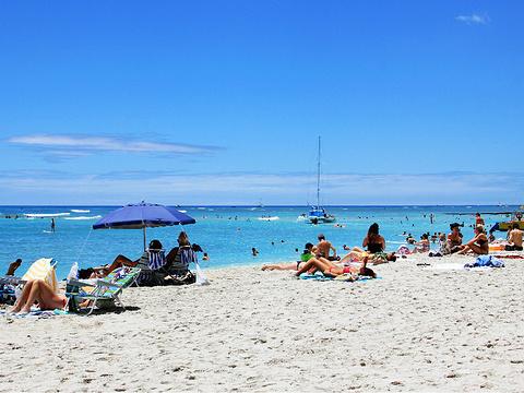 威基基海滩旅游景点图片