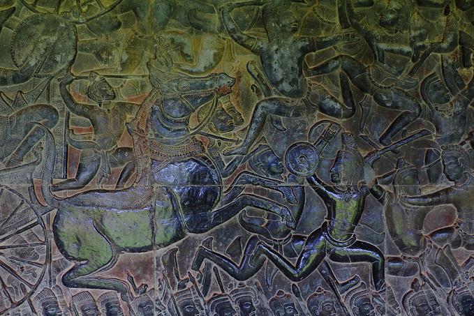 壮丽的浅浮雕画廊图片